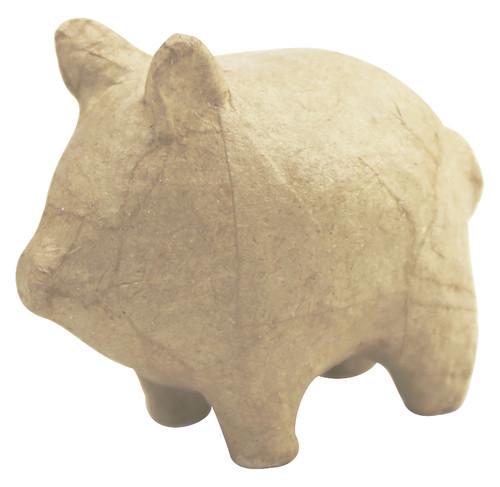 decopatch Tierfigur Schwein aus Pappmachè, 8 x 5 x 7 cm