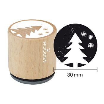 Woodies Holzstempel, Ø 30 mm, Tannenbaum