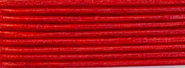 Lederriemen, 1,2 mm Ø - 1 m, Ziegenleder, rot