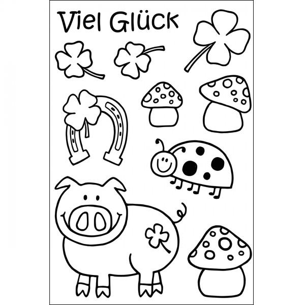 Clear Stamps - Viel Glück