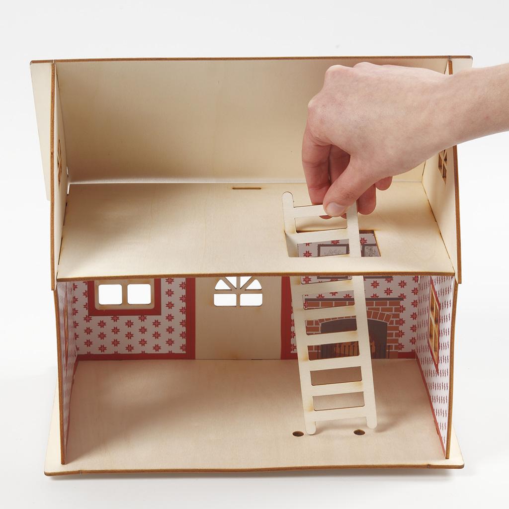 """materialset """"weihnachtsmannhaus""""  kreativdepot"""