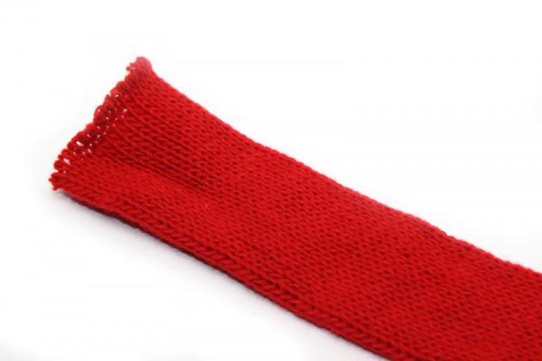 Dänischer Strickschlauch, 1 m x 3 cm, rot