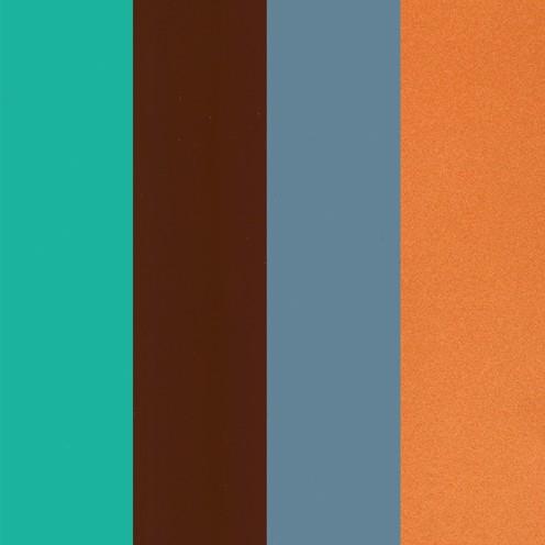 Color-Dekor Dekofolie, 10x20cm,4 Stück sortiert, Sortiment 5