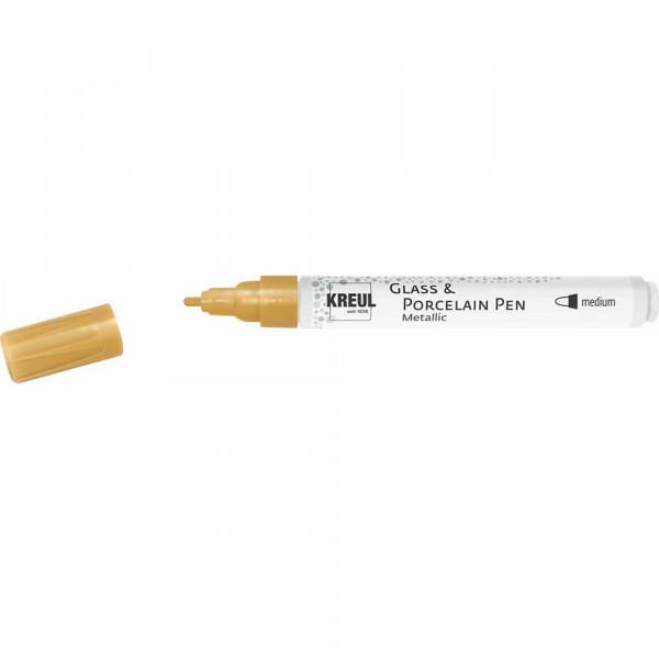 KREUL Glass & Porcelain Pen Metallic, gold - medium