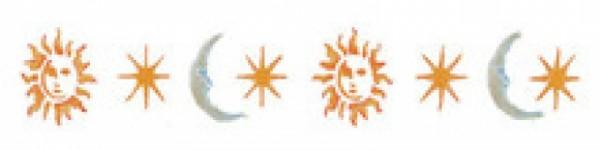 Motiv-Schablonen Sonne,Mond und Sterne