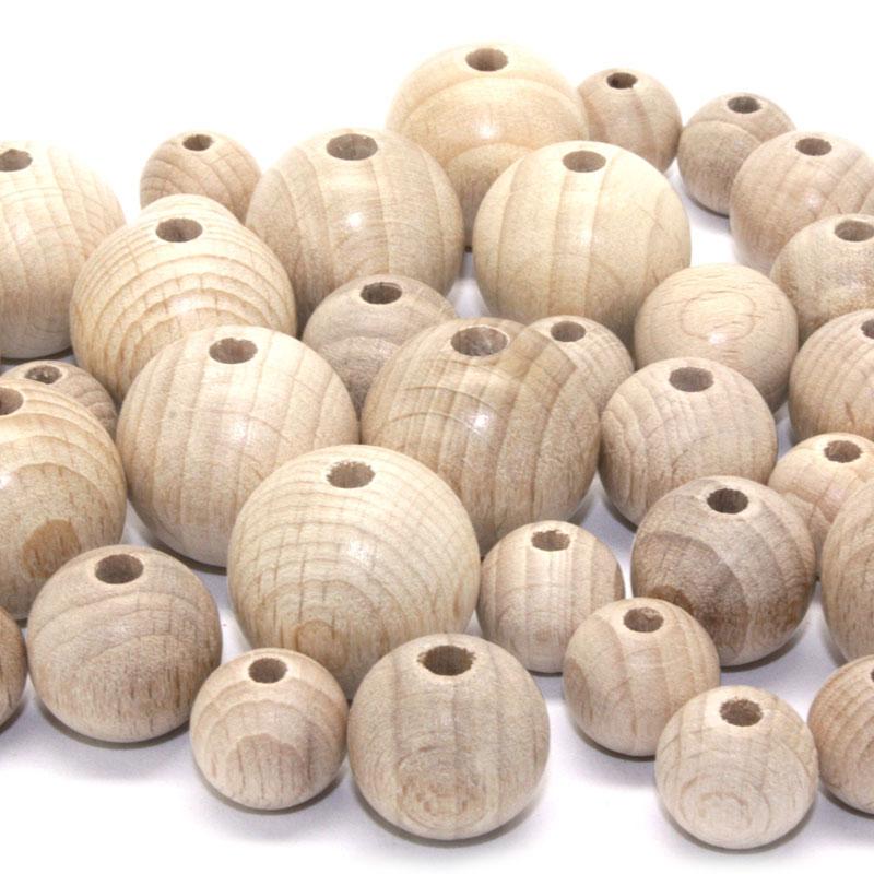 Holzkugeln-halbgebohrt