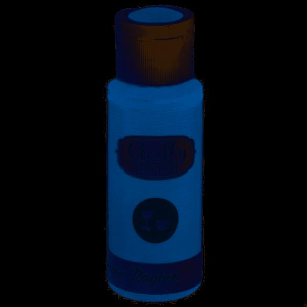 Chalky-Finish Kreidefarbe für Glas 59 ml - azurblau