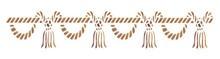 Motiv-Schablonen Kordeln 11x70cm