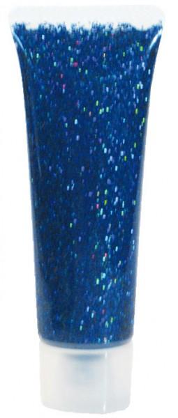 Eulenspiegel Glitzer-Gel, 18 ml, Blau-Juwel holographisch