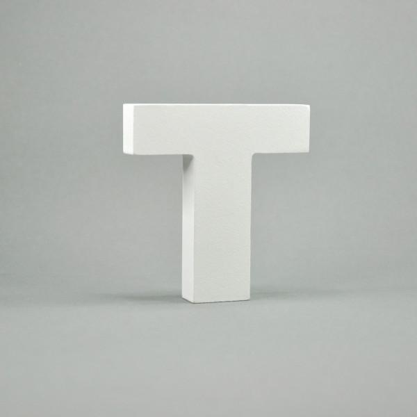 """MDF- Buchstaben """"T"""", weiß"""