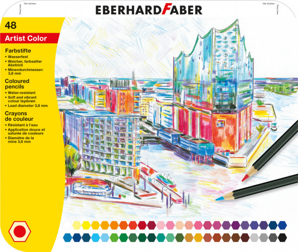Eberhard Faber - 48 hexagonal Artist Color Farbstifte