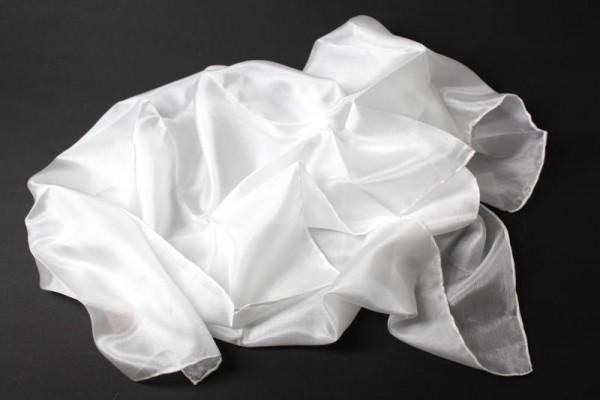 Seiden-Tuch, Pongè 05, naturweiß, 55 x 55 cm