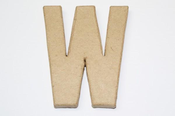 Buchstabe W, 10 x 1 cm, aus Pappmachè