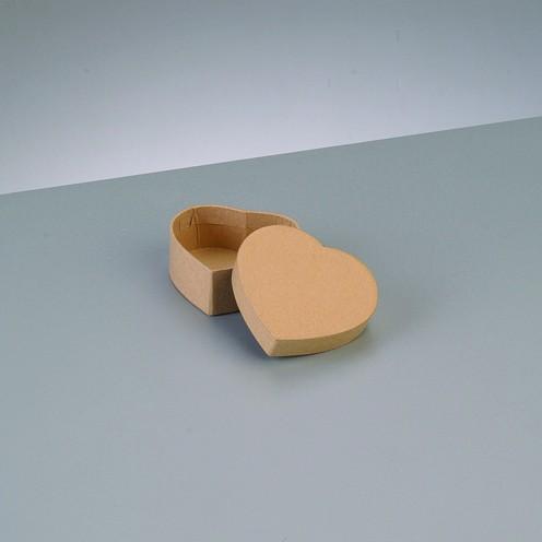 Box Herz, aus Pappmaché, 6,5 x 6 x 2,7 cm