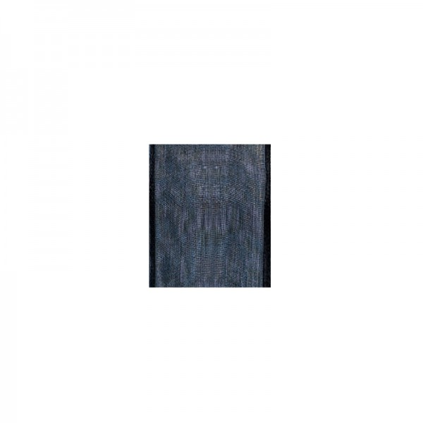 Chiffonband mit Drahtkante, 25mm breit, 5m lang - dunkelblau
