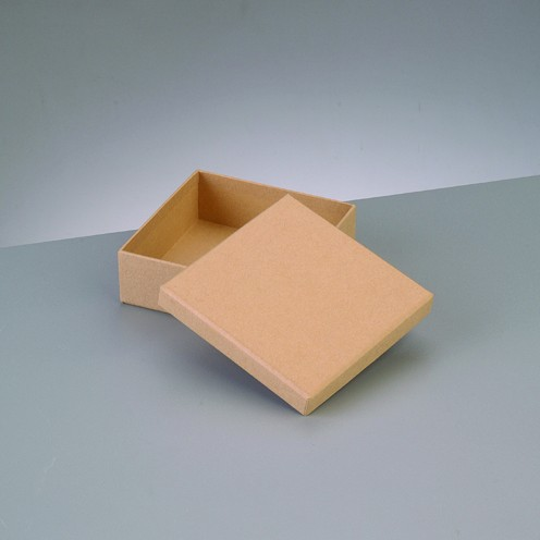 Box Quadrat, aus Pappmaché, 10,5 x 10,5 x 3,6 cm