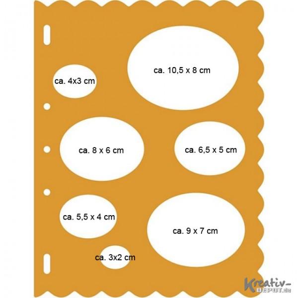 Schablone für Shape Cutter, 27,9 x 22,6 x 0,3 cm Oval