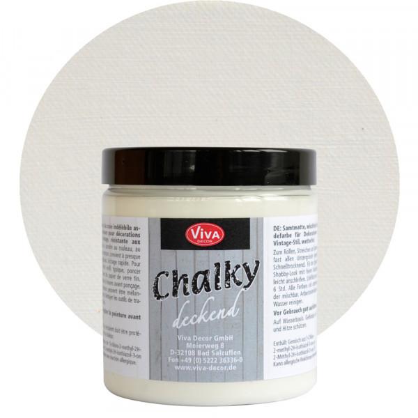 Viva Decor Chalky deckend - 250 ml, Muschelweiß