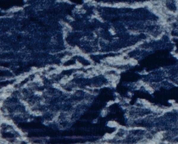 Verzierwachsplatte Marmor, 200x100x0,5mm, dunkelblau