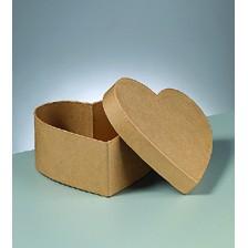 Box Herz aus Pappmaché, 12 x 5,5 cm