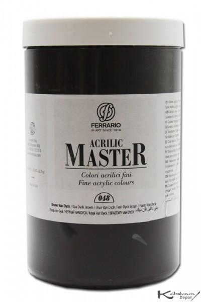 Ferrario Acrilic Master Acrylfarbe, 1000 ml, Van Dyck Braun