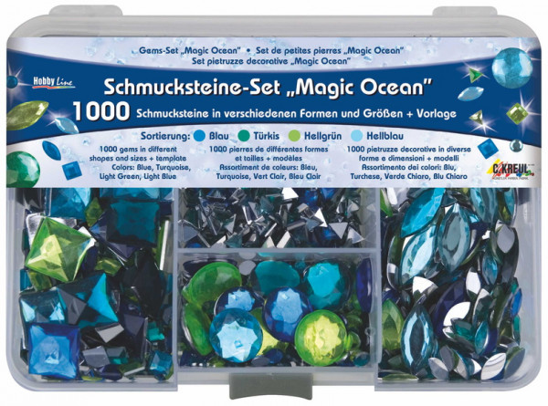 Hobby Line Schmucksteine Set Magic Ocean