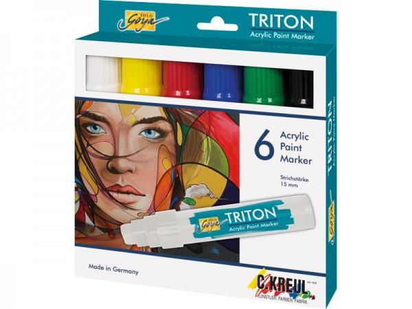SOLO GOYA TRITON Acrylic Paint Marker 15.0 - 6er Set
