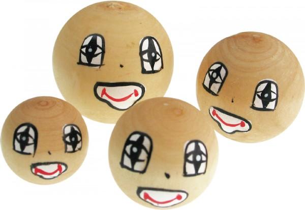 Puppenkopf Clown, aus Holz, 4 Stück