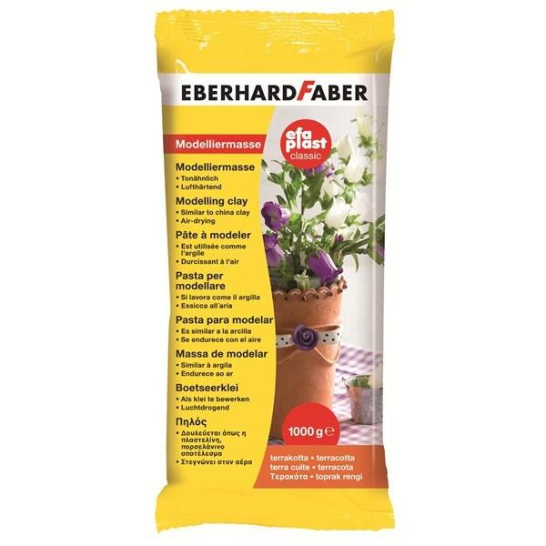 EBERHARD FABER efaplast classic, 1000 g, Terracotta