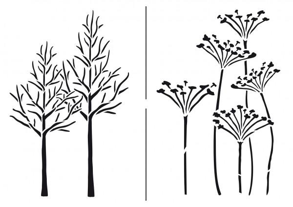 Viva Decor Universal-Schablone, DIN A4, Herbstimpressionen