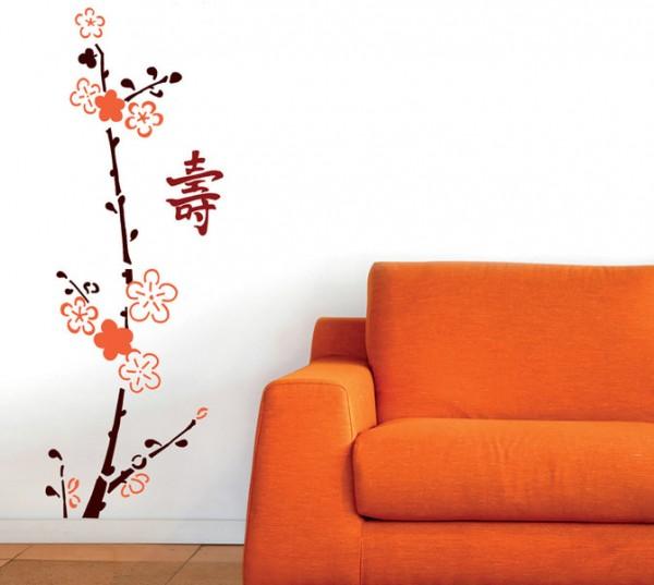 XXL-Schablone Japanisch Langes Leben 35x150 cm