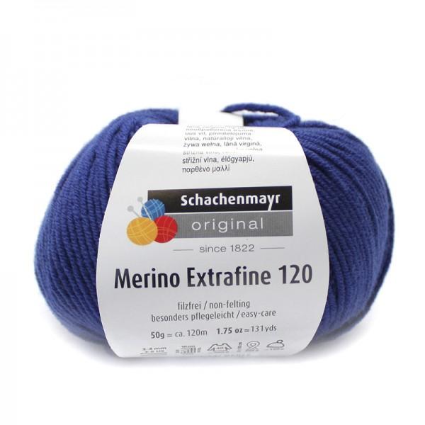 Die Schachenmayr Wolle - Merino Extrafine, enzian