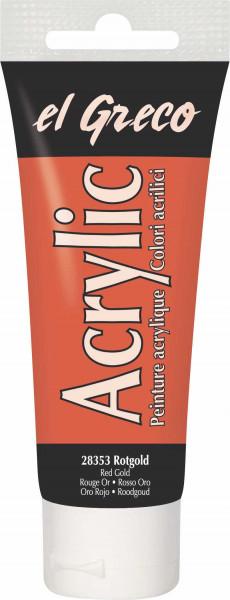 Acrylfarbe el Greco Acrylic, 75 ml - Rotgold