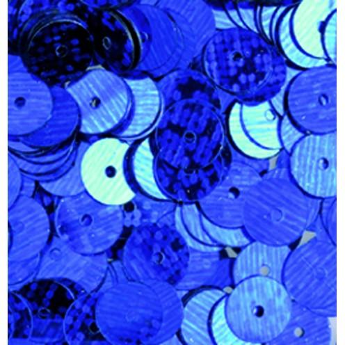 Pailletten, rund, flach, 6 mm, 1 kg, blau hologramm
