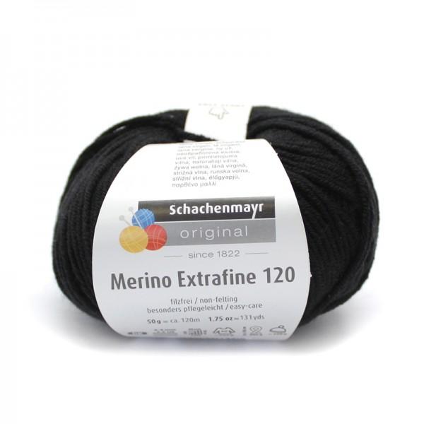 Die Schachenmayr Wolle - Merino Extrafine, schwarz