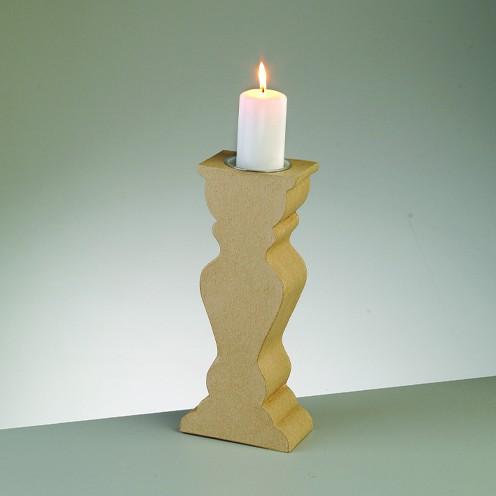 Kerzenhalter Form 3, mit Alueinsatz