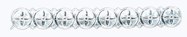 Wachsborte, Muster 3, 24 cm, silber