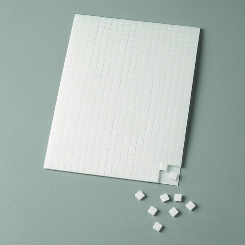 Klebekissen / 3D-Klebepads, doppelseitig, 5x5x2mm, 560 Stück, weiß