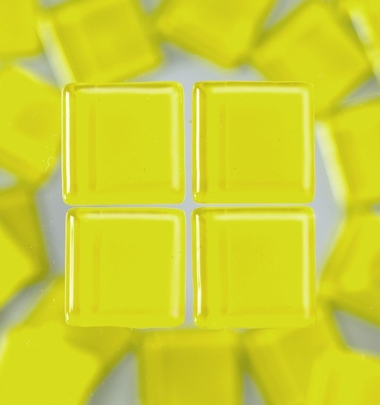 Efco Mosaik Glasstein soft, 10 x 10 mm, gelb