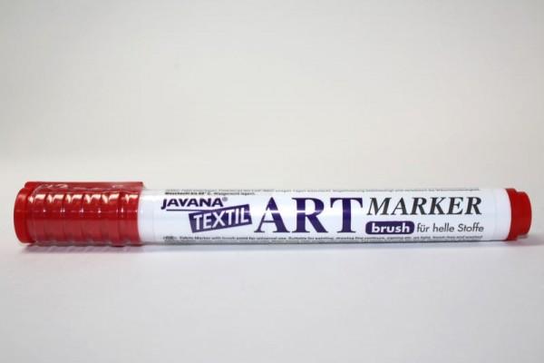 JAVANA TEXTIL ARTMARKER, Stoffmalstift, Rot