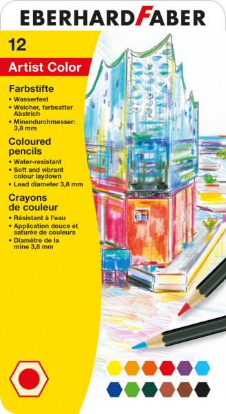 Eberhard Faber - 12 hexagonal Artist Color Farbstifte