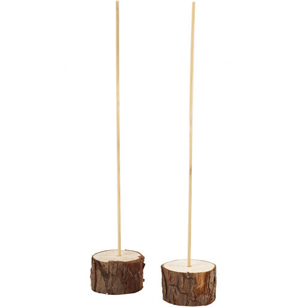 Standfuß aus Holz, 2er Set