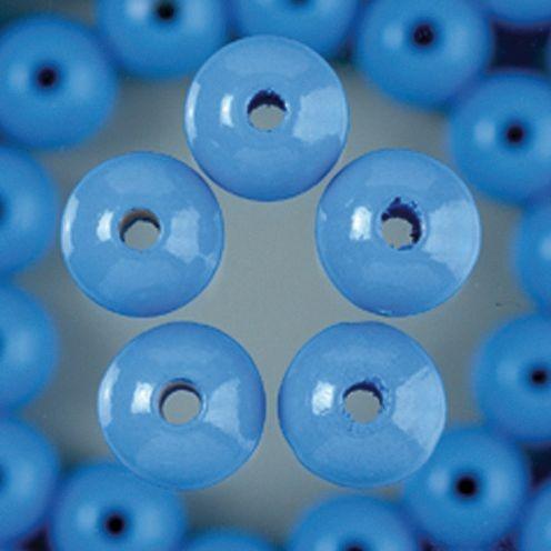 Holzperlen 8mm, 80 Stück - hellblau