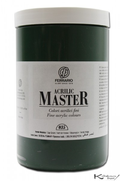 Ferrario Acrilic Master Acrylfarbe, 1000 ml, Blasengrün