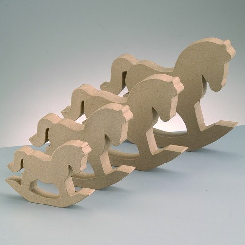 Schaukelpferd Silhouette, 20,5 x 15,5 x 2,5 cm