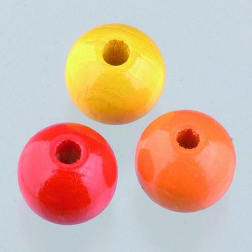 Holzperlen Mix 10mm - gelbmix