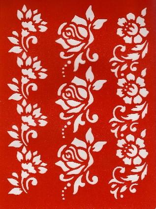Motiv-Schablone Blütenborten