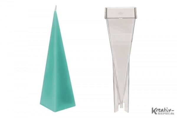 Kerzenform, 6x6x22,8 cm, Pyramide