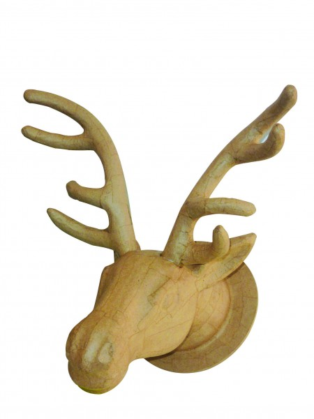 décopatch Tierfigur Elch, aus Pappmachè, 27 x 38 x 39 cm
