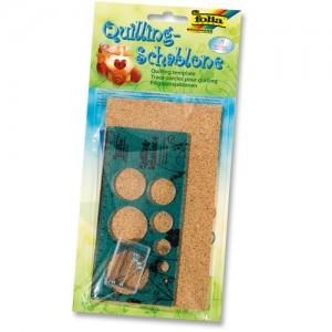 Quilling-Schablone mit Korkmatte und Stecknadeln